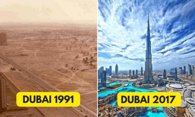 18 ohromujících měst, která se změnila za pár desítek let k nepoznání