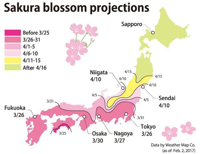 mapa tresne japonsko