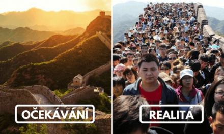 20 nejkrásnějších turistických destinací: naše očekávání vs. realita