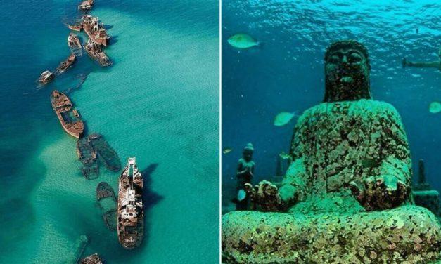 15 neskutečných míst pod vodou, o kterých jste nejspíš nikdy neslyšeli