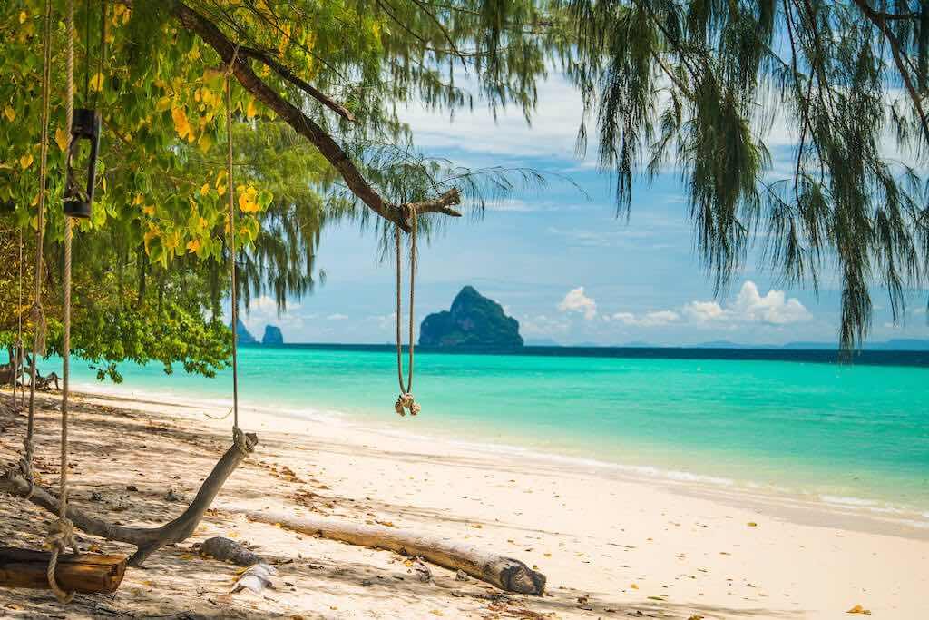 Thajské ostrovo koh kradan