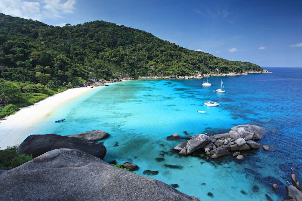 Thajsko ostrovy koh similan
