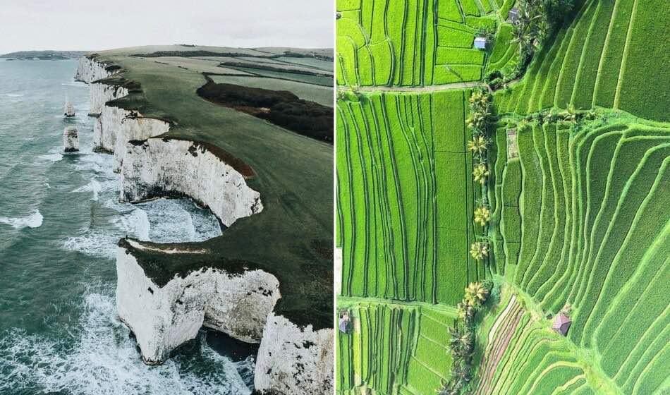 25 božských fotek z dronu, díky kterým můžete obdivovat známá místa z ptačí perspektivy