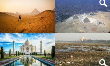 10 slavných památek vyfocených z dálky a jejich překvapující okolí