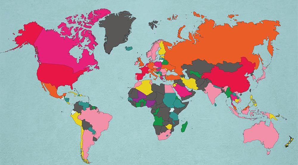 MAPA: Nejnavštěvovanější země světa, do kterých jezdí nejvíce turistů
