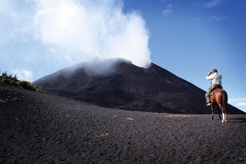 Guatemala sopka Pacaya