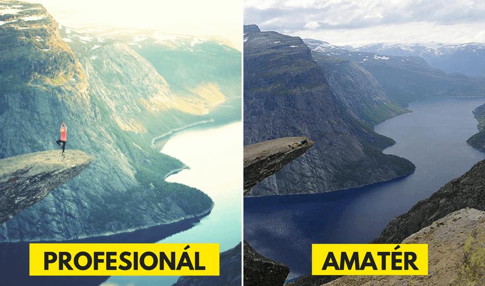 Takto vypadají stejná místa, když je vyfotí profesionál a amatér3 minut čtení