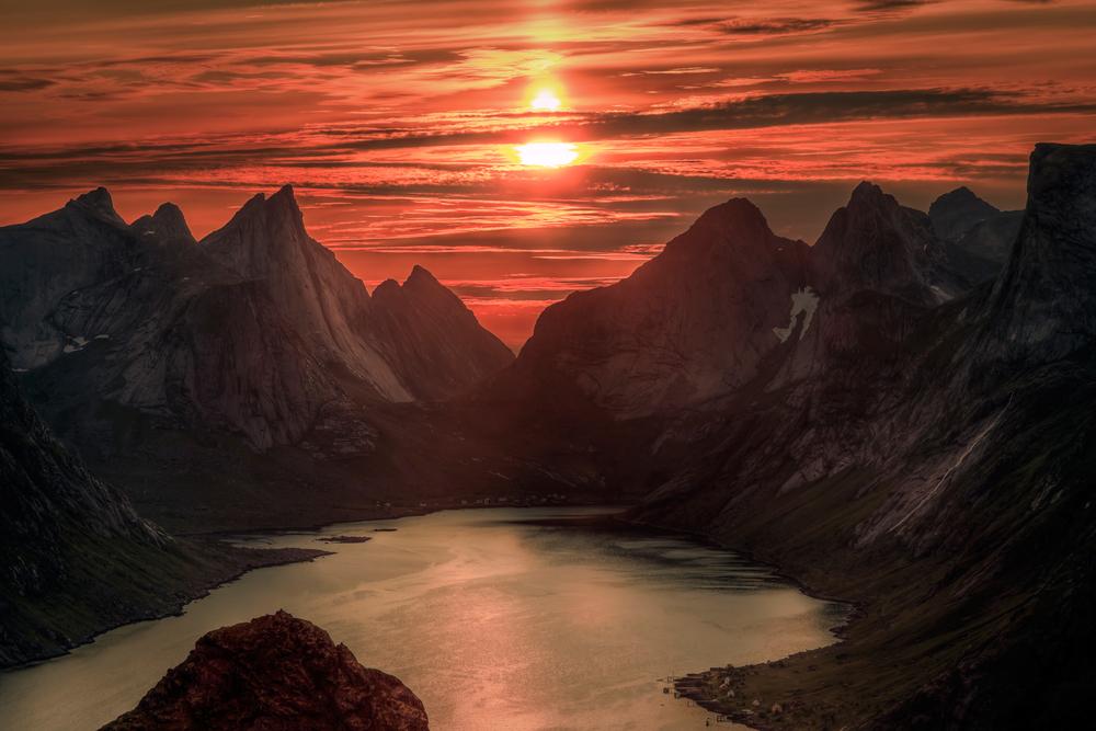 norsko pulnocni slunce