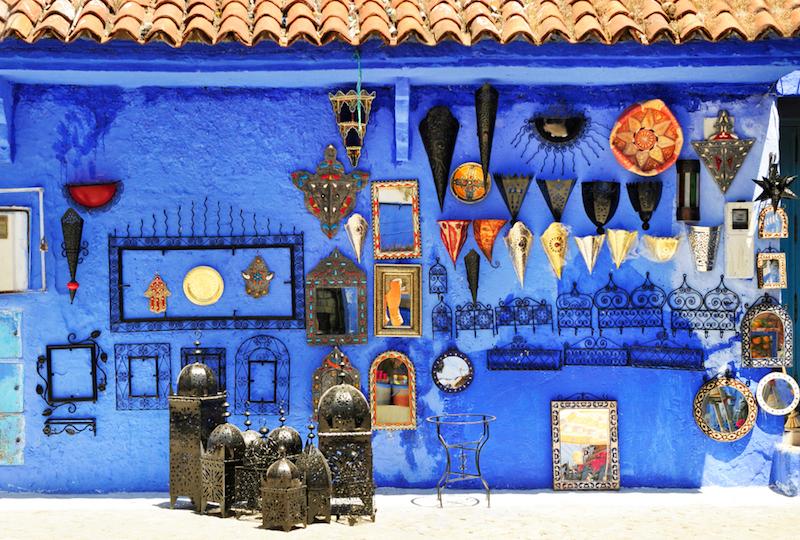 Toto neuvěřitelné modré město v Maroku vypadá jako ze snu