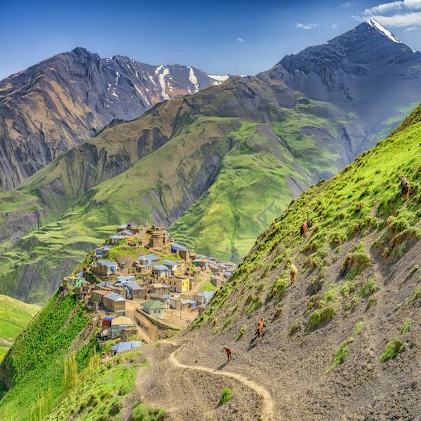 Horské vesnice v oblasti Quba