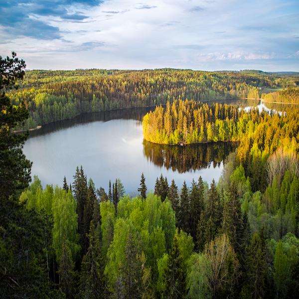 jezerni oblast Finsko