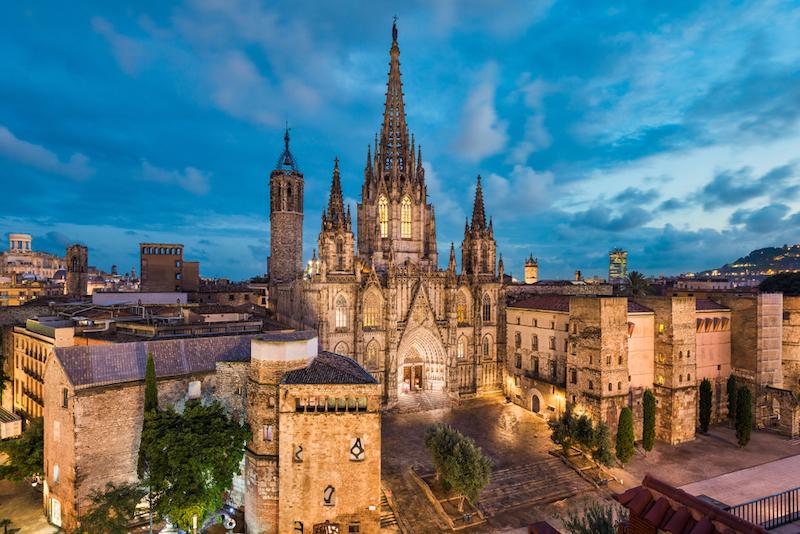 Barcelona KATEDRÁLA A SVATÁ EULALIA