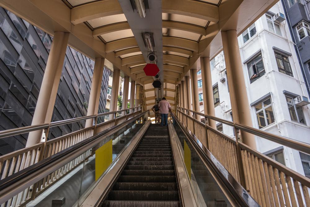 Hongkong venkovní eskalátor