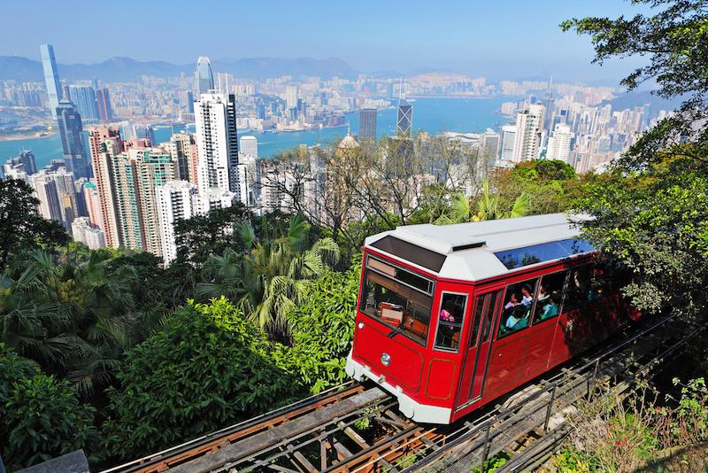 Hongkong lanovka na Victoria Peak