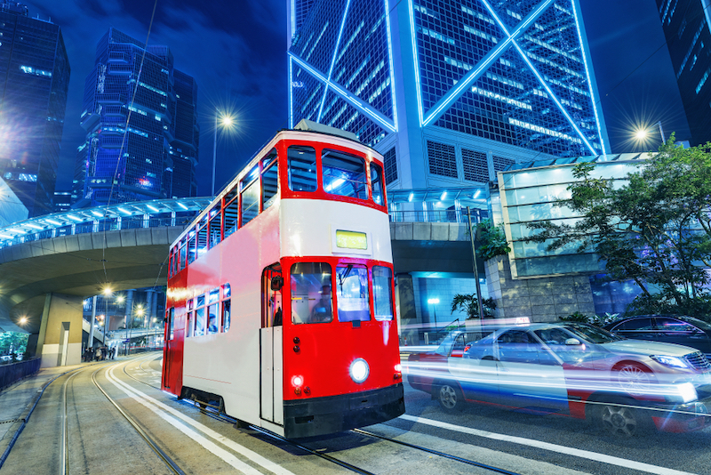 Hongkong dvoupatrová tramvaj