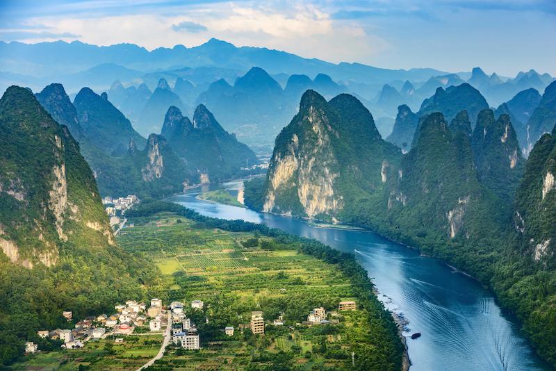 Krasové hory v Yangshuo